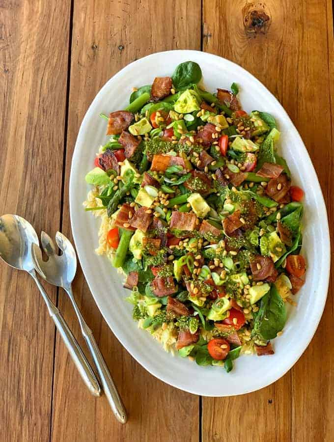 Asparagus and bacon spring salad