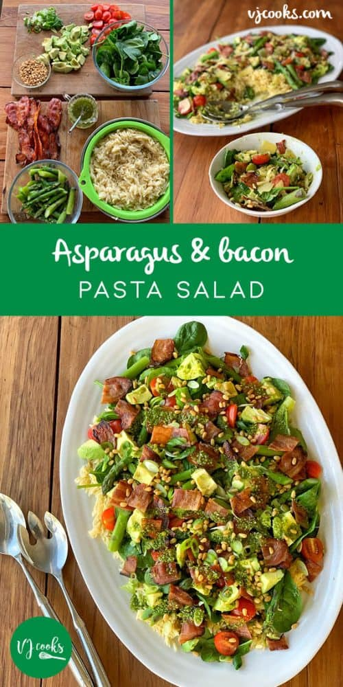 Asparagus and bacon pasta salad