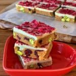 cranberry and pistachio slice
