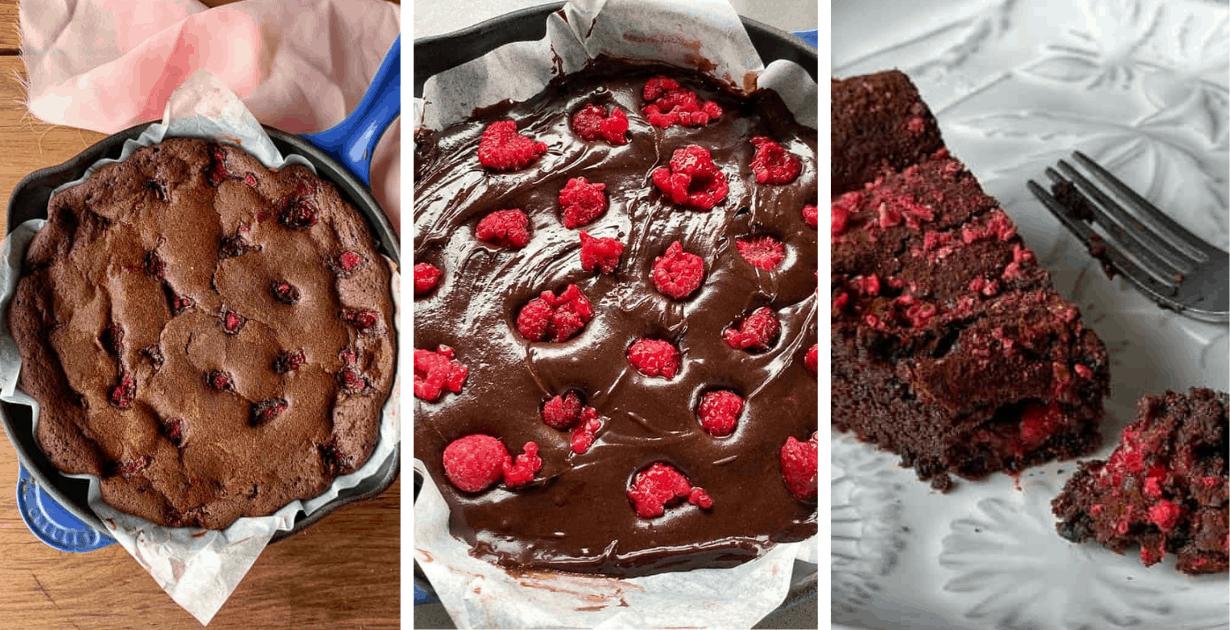 raspberry skillet brownie