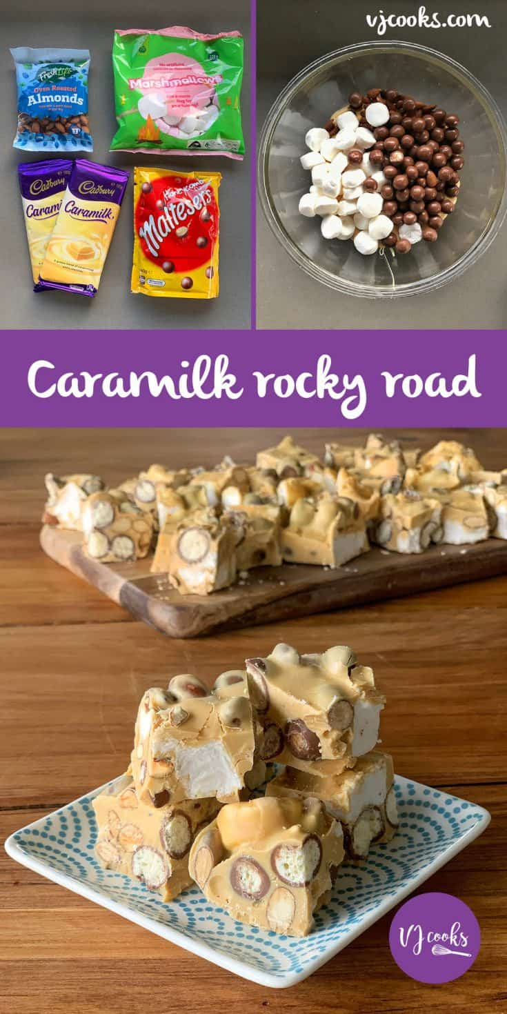 Easy recipe for Caramilk rocky road with only 4 ingredients.