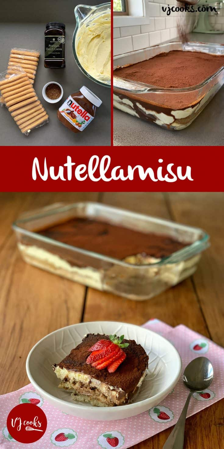 If you love Nutella and Tiramisu then this Nutellamisu is the ultimate dessert. It is an egg-free no fuss recipe that can be made-ahead in minutes.