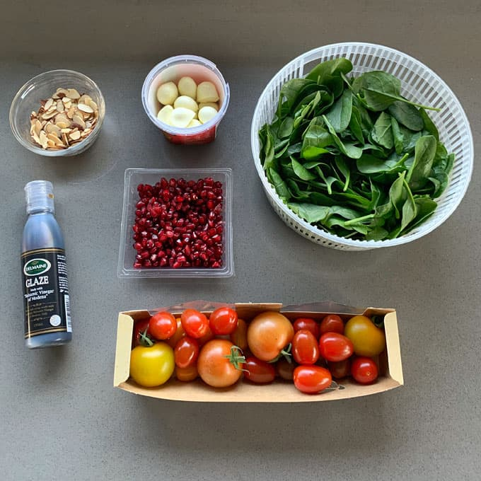 Ingredients for Green Christmas salad