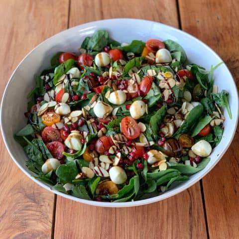 Christmas green salad