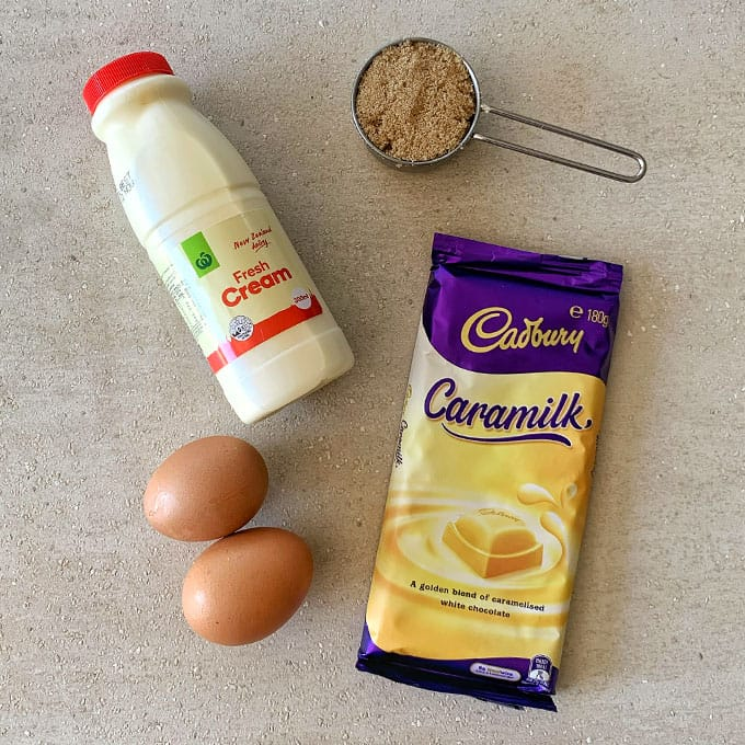caramilk mousse ingredients