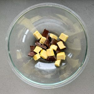 butter and chocolate in a bowl