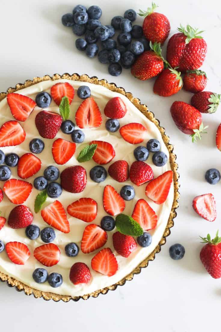 No Bake Summer Berry Tart