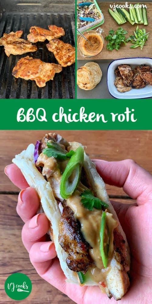 BBQ Chicken roti