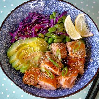 Salmon bowls