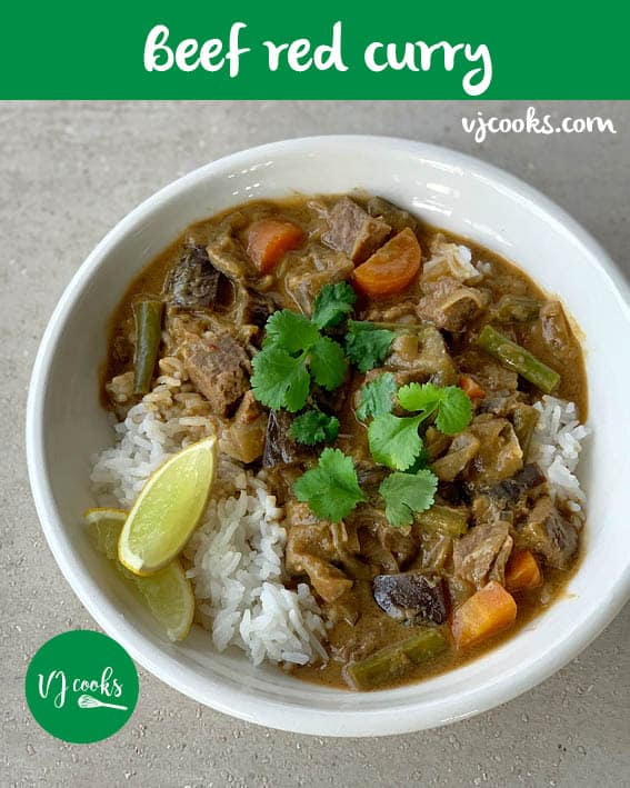 beef red curry
