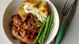 Slow cooker Smokey sausage casserole
