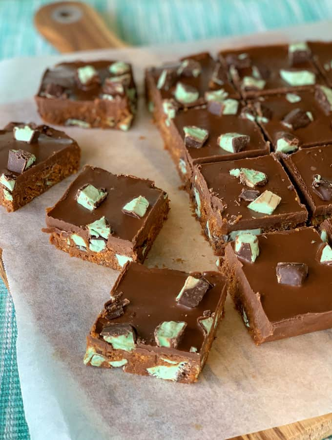 Snifters lumps slice- no bake peppermint slice from vj cooks