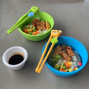 kids teriyaki chicken bowls