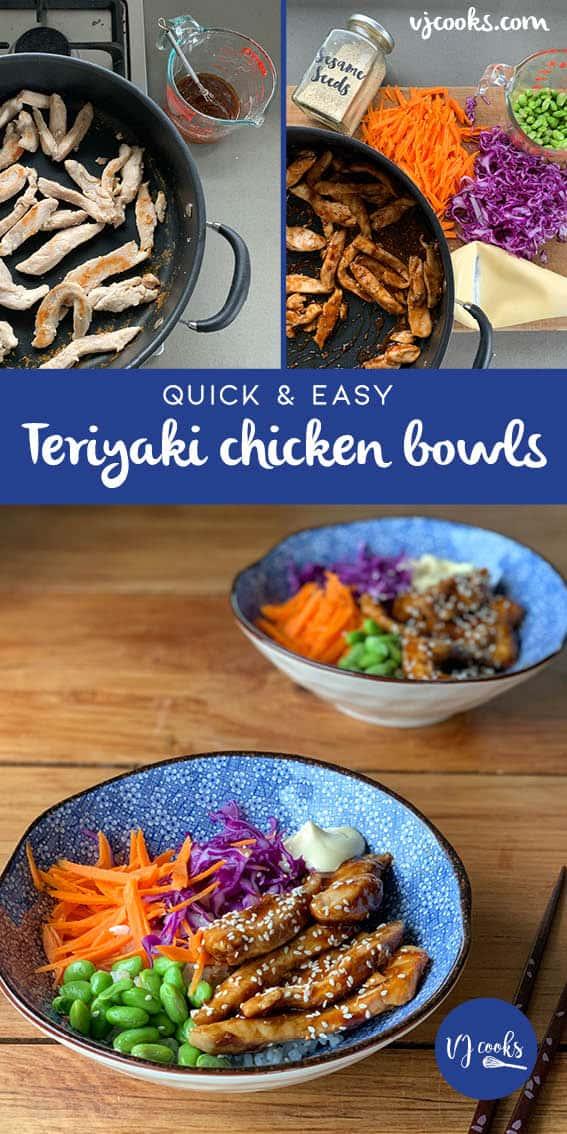 quick teriyaki chicken bowls