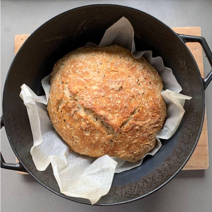 VJ cooks no knead bread