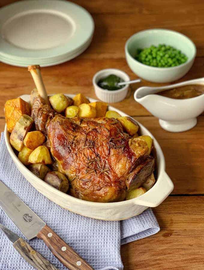 roast lamb and onion gravy