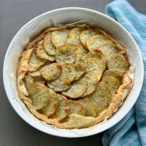 roast lamb pie with potatoes