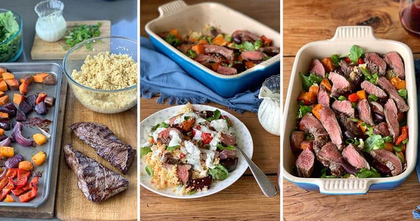 venison and couscous salad