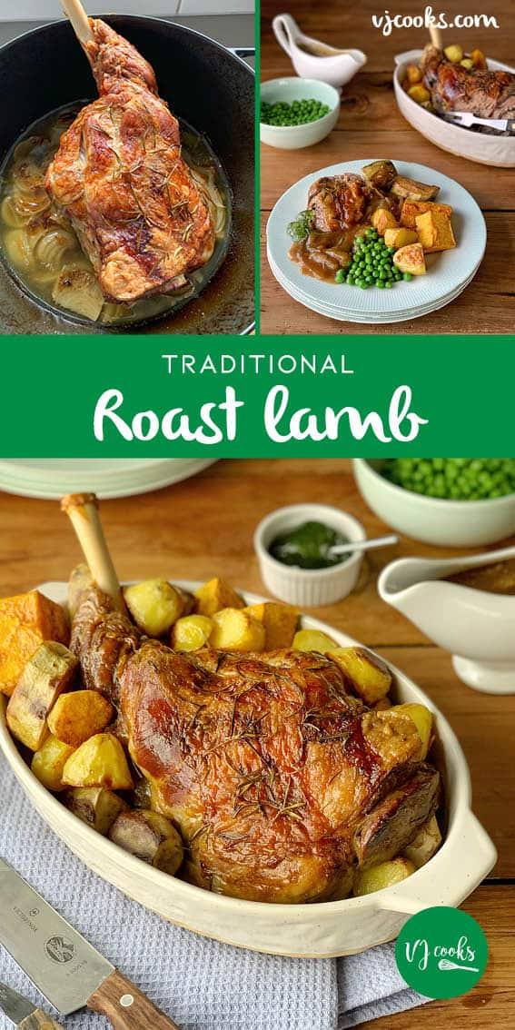 roast lamb with onion gravy