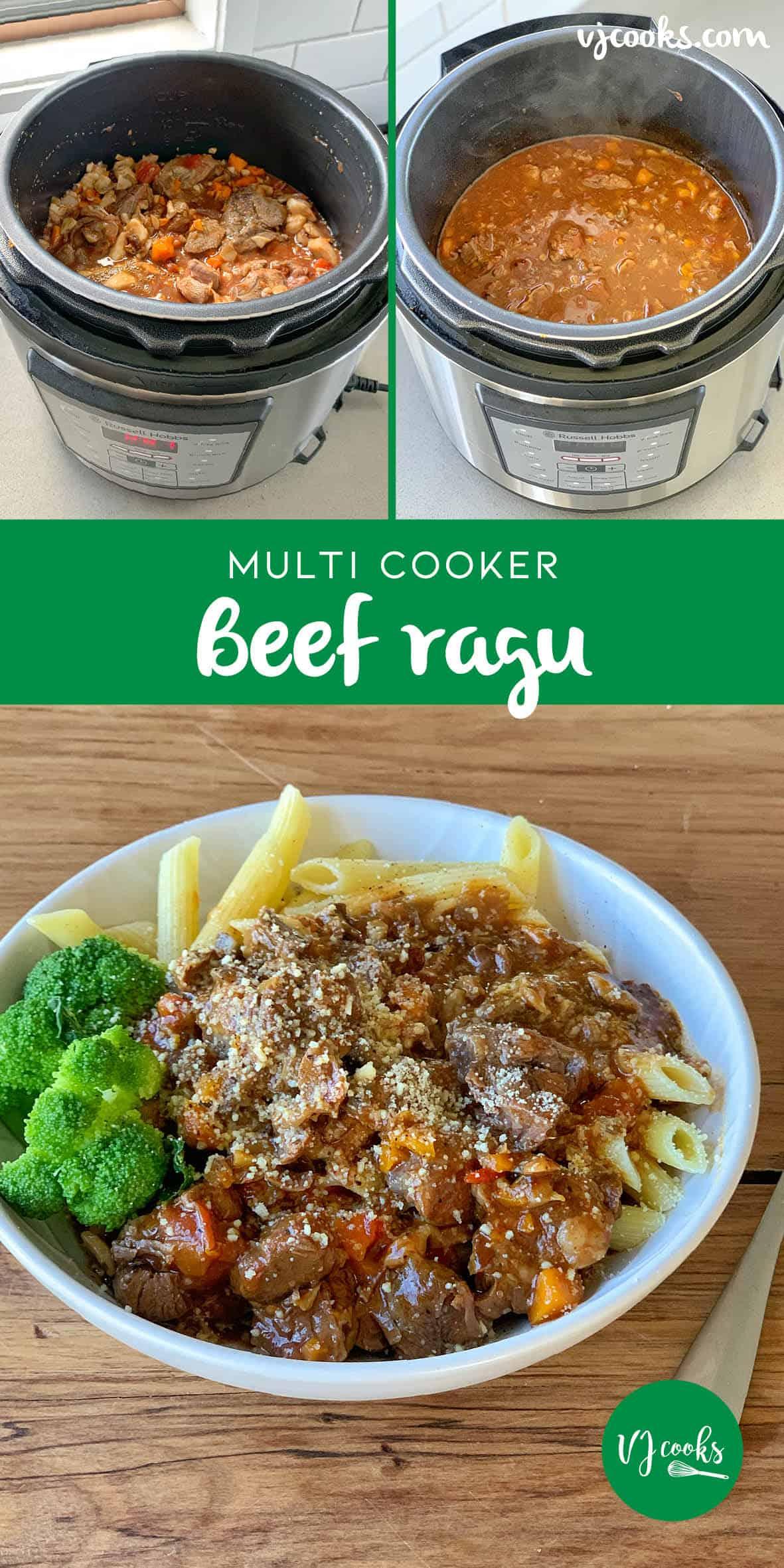 multi cooker beef ragu