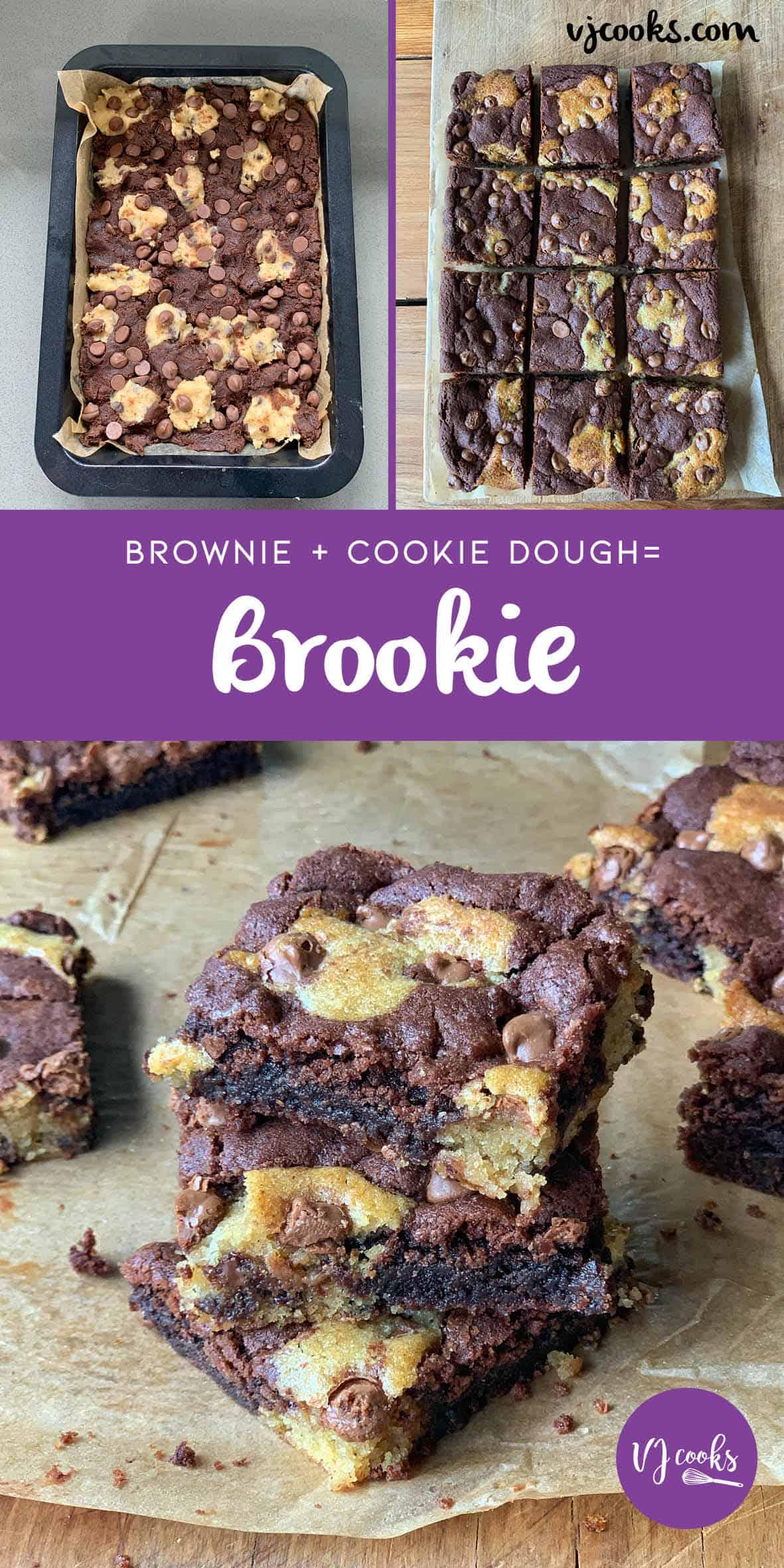 brookies - brownies with cookie dough