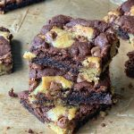 brookies - brownies with cookie dough