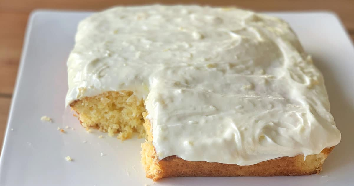 Pineapple and coconut cake