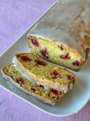 lemon and raspberry loaf