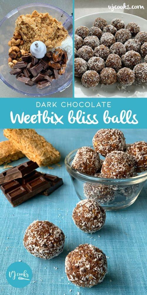 dark chocolate weetbix bliss balls
