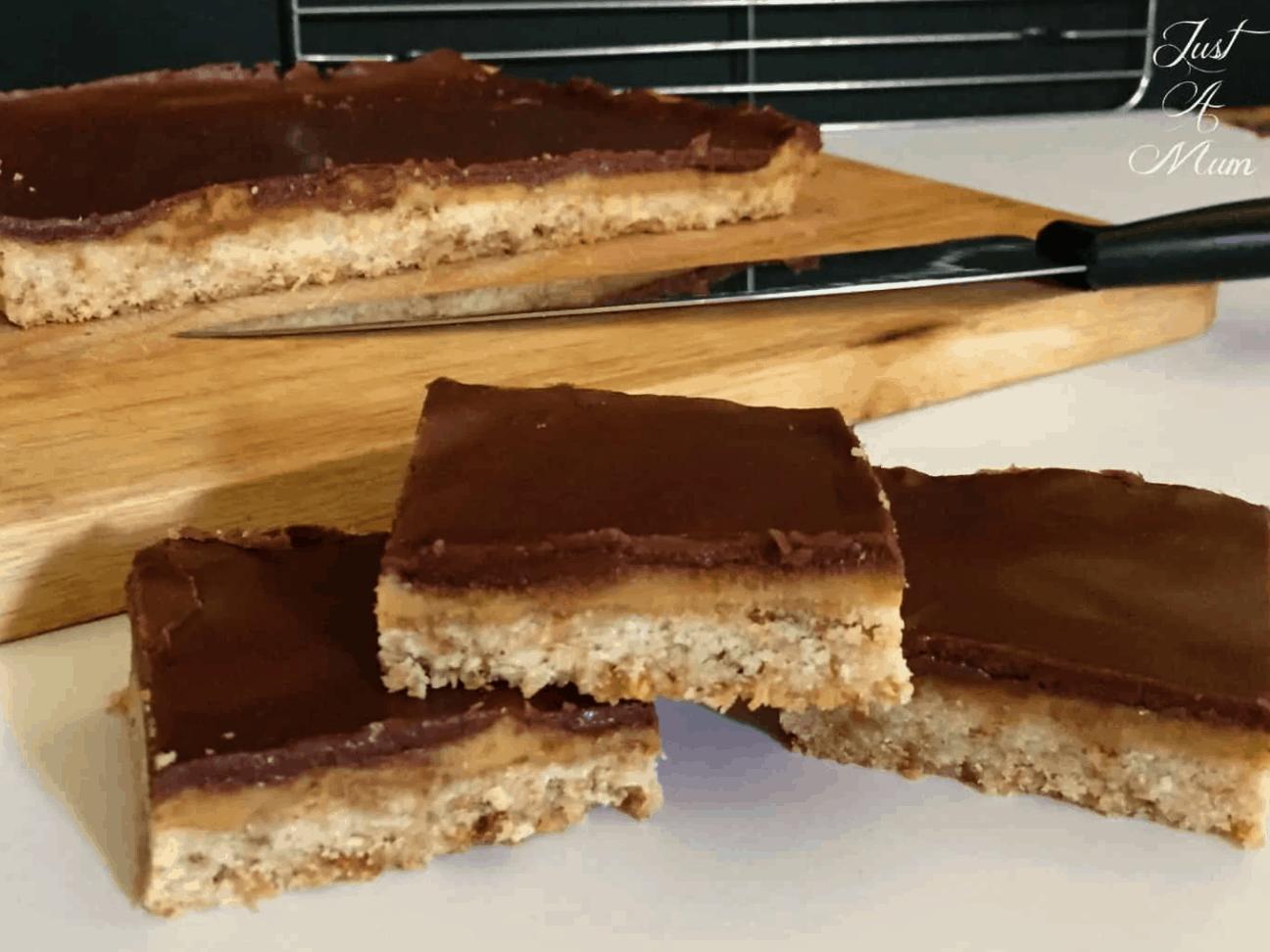 chocolate caramel weetbix slice