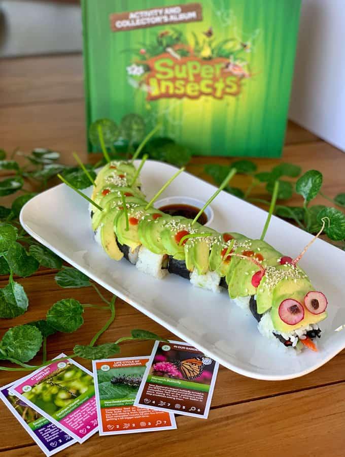 Teriyaki chicken sushi caterpillar