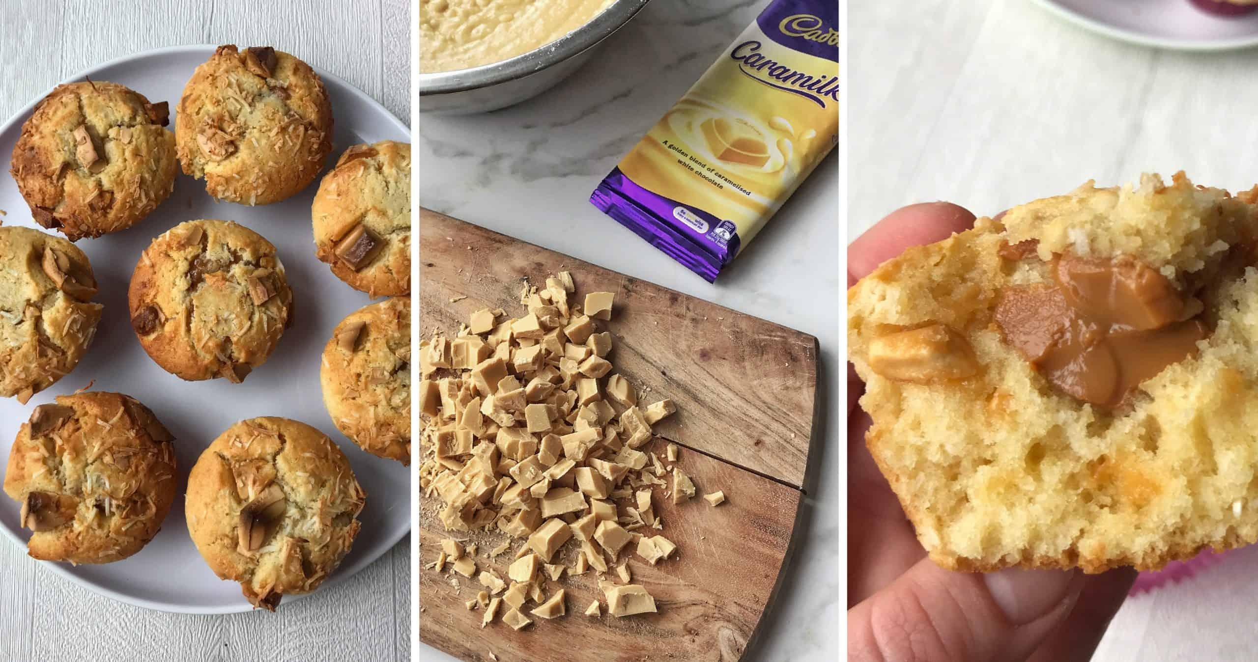 caramilk muffins