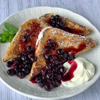 French Toast with Blueberry Toast