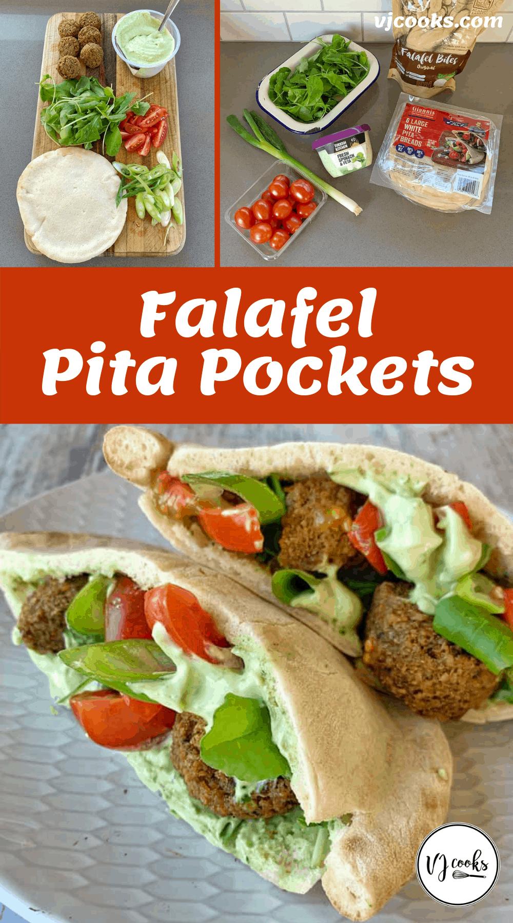 Falafel pita pockets