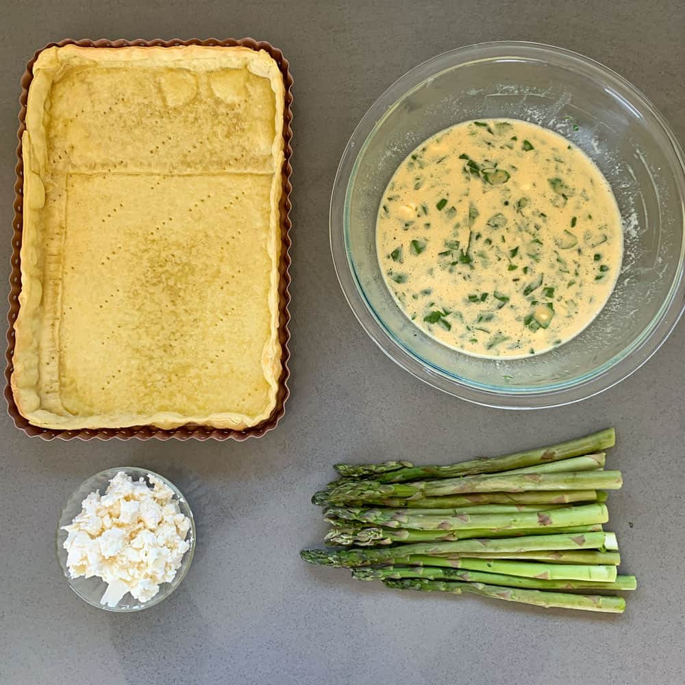 Asparagus and Feta Tart