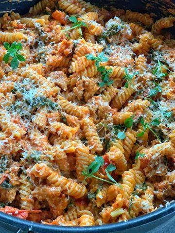 Creamy tomato italian sausage pasta