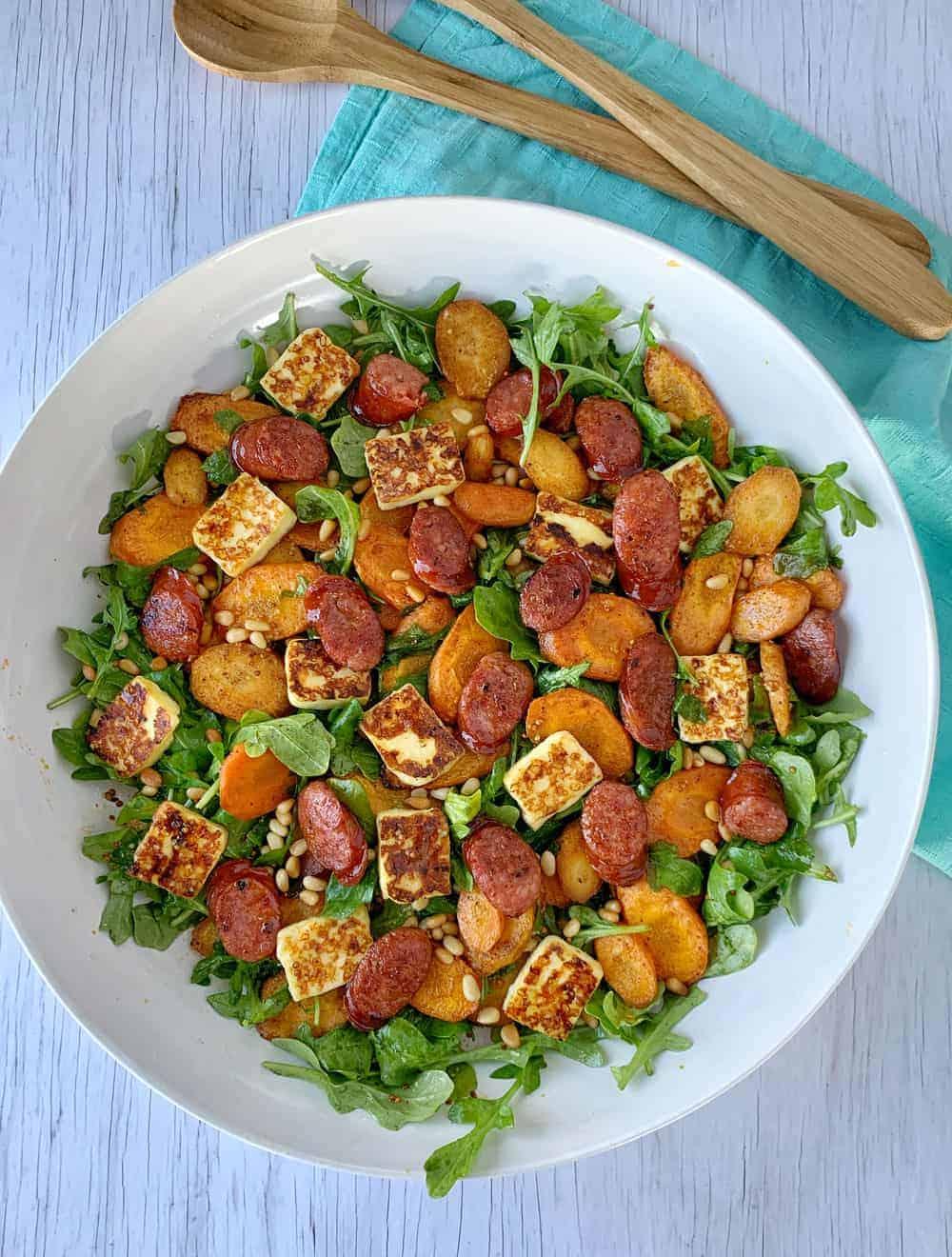 Carrot and chorizo salad