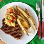 Cajun pork chops with pineapple salsa