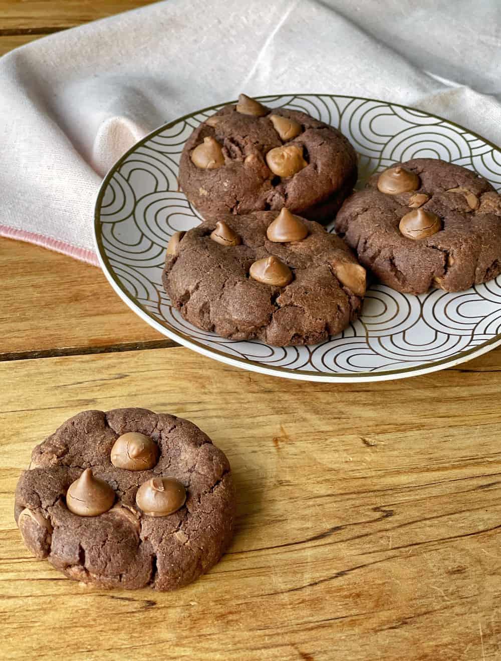 Double Choc Drop cookies