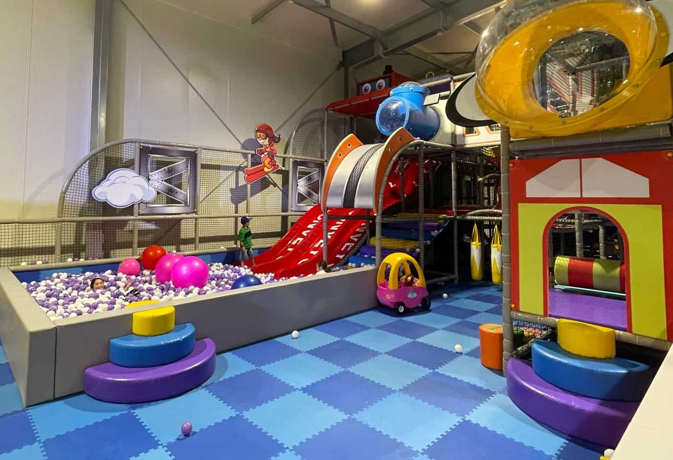 A soft play area for children.