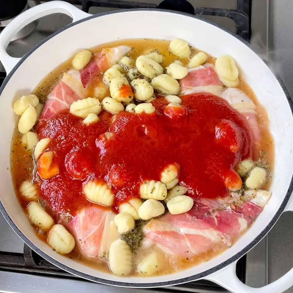 One pot chicken and gnocchi