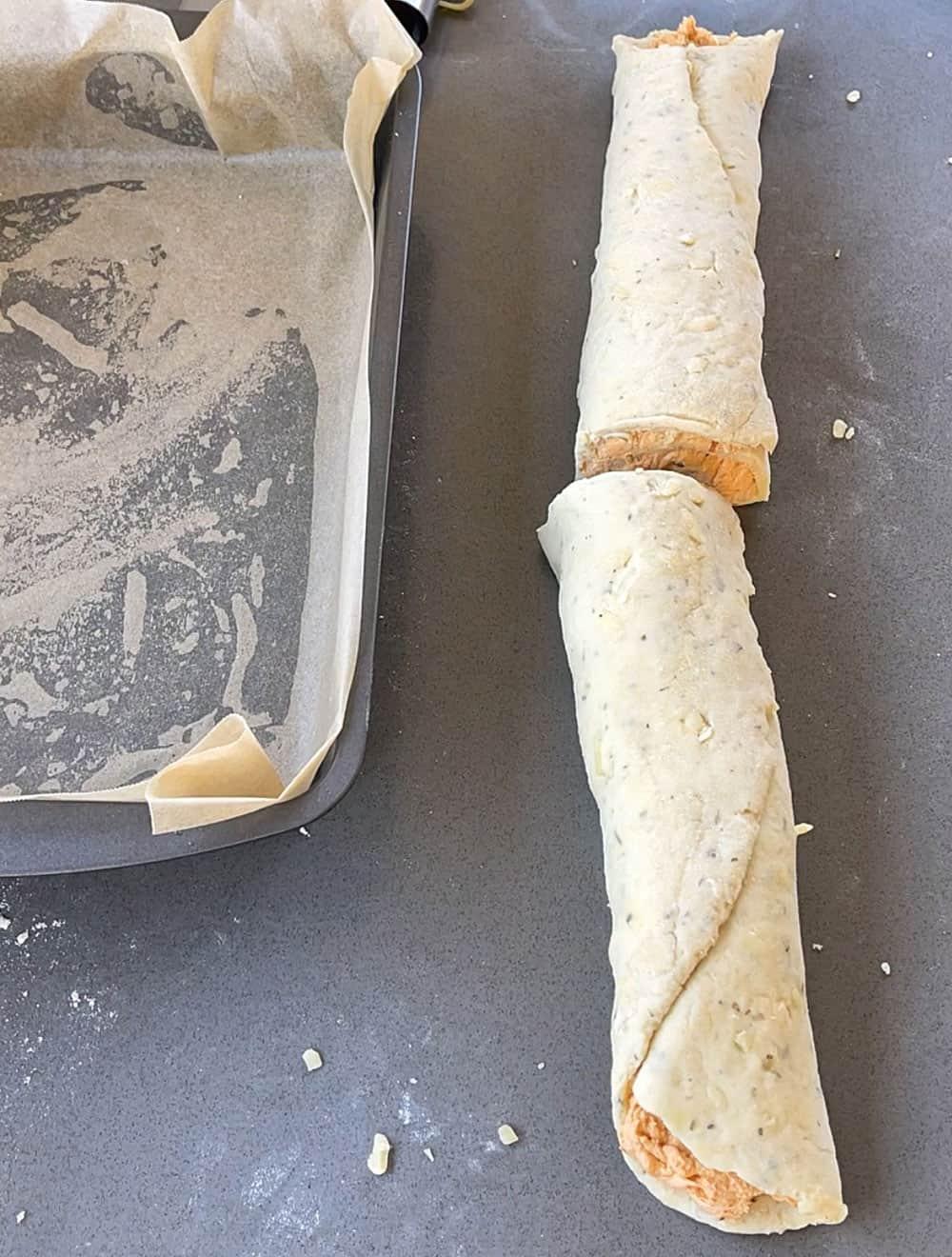 Cheesy Buffalo Chicken Scrolls