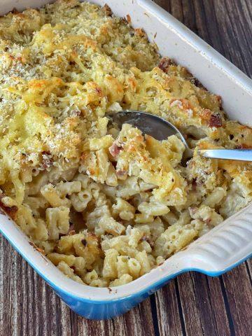 Macaroni Cheese and Bacon bake