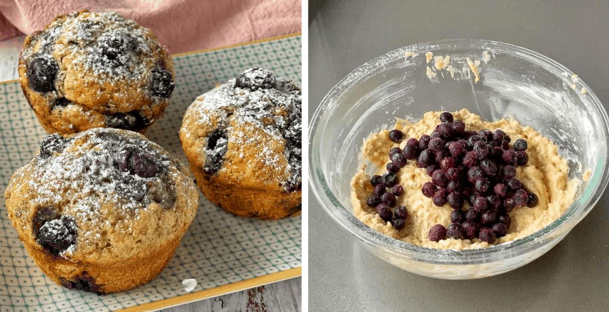 blueberry oaty muffins