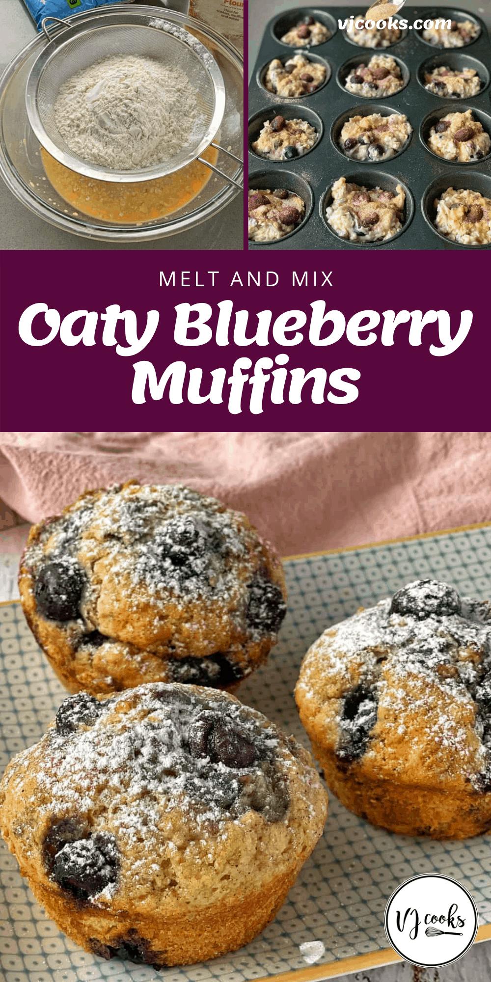 oaty blueberry muffins