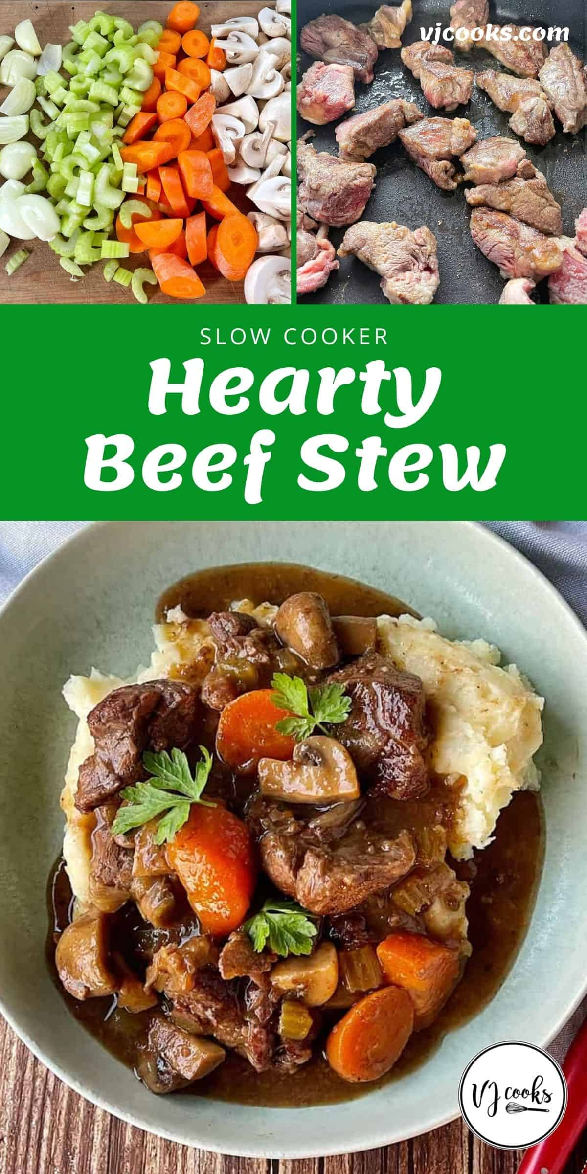The process of making beef stew.